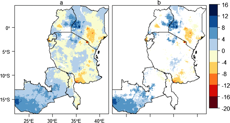 Mapping Rainfall Variability over Eastern and Southern Africa